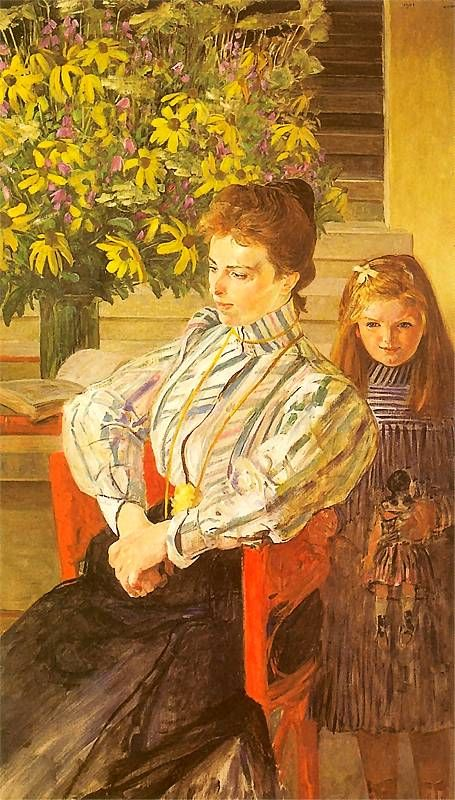 Jacek Malczewski - Portrait of Julianow Nowak and her daughter