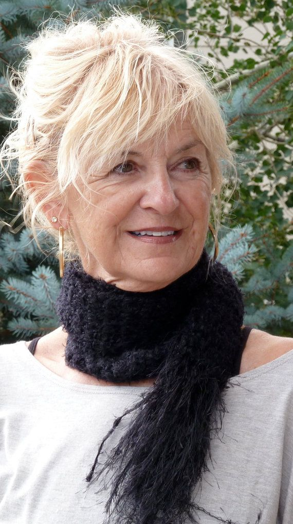 Long Black Skinny Crochet Scarf  Handmade by hatsbyanne1942, $35.00: Etsy Sellers, Originals, Black Skinny, Woman, Black Crochet, Crochet Winter, Black Winter, Etsy Group, Crochet Scarfs