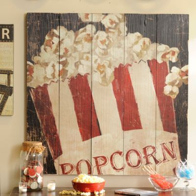 Red & White Popcorn Box Wall Plaque | Kirklands