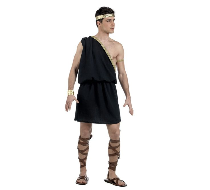 Disfraz de Griego Damian Deluxe para hombre. Alta calidad, hecho en España. Disponible en varias tallas. Incluye solo vestido. Resto de complementos NO incluidos, podrás encontrarlos en nuestra sección de Accesorios.