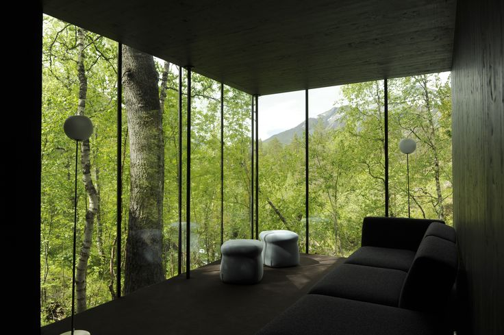 Juvet Hotel in Norway. Minimalistic design and breathtaking panoramic views.