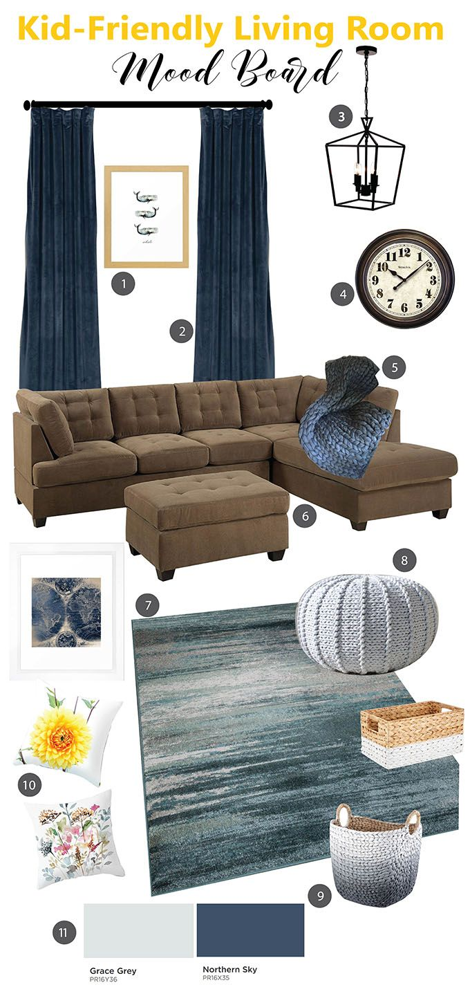 Best 25 family room colors ideas on pinterest living - Kid friendly living room decorating ideas ...