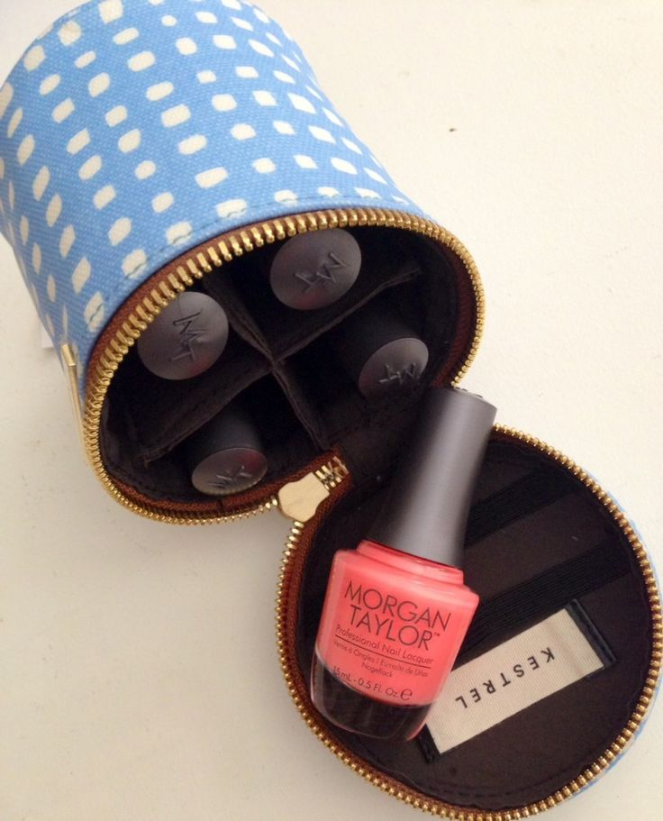 Super cute nail polish storage case. Good for taking a couple colours on the road!
