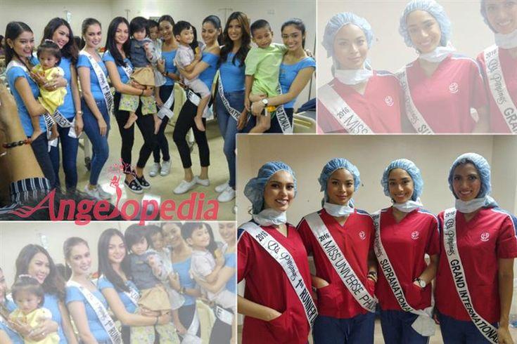 Binibining Pilipinas 2016 Winners visit Sta. Ana Hospital for Operation Smile