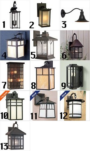 Craftsman style exterior lights - we need several outdoor lights.  Just need to wait until after football season is over