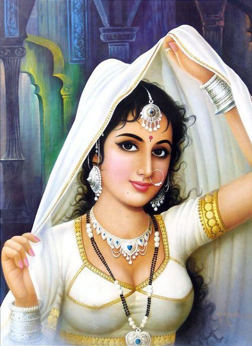 Rajasthani girl bathing - 3 7