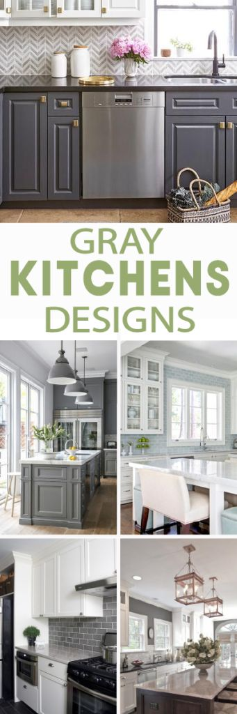 Gray and White kitchens are huge now and no doubt will become a classic look. Need some inspirations? Look at these gorgeous gray and white kitchen images!
