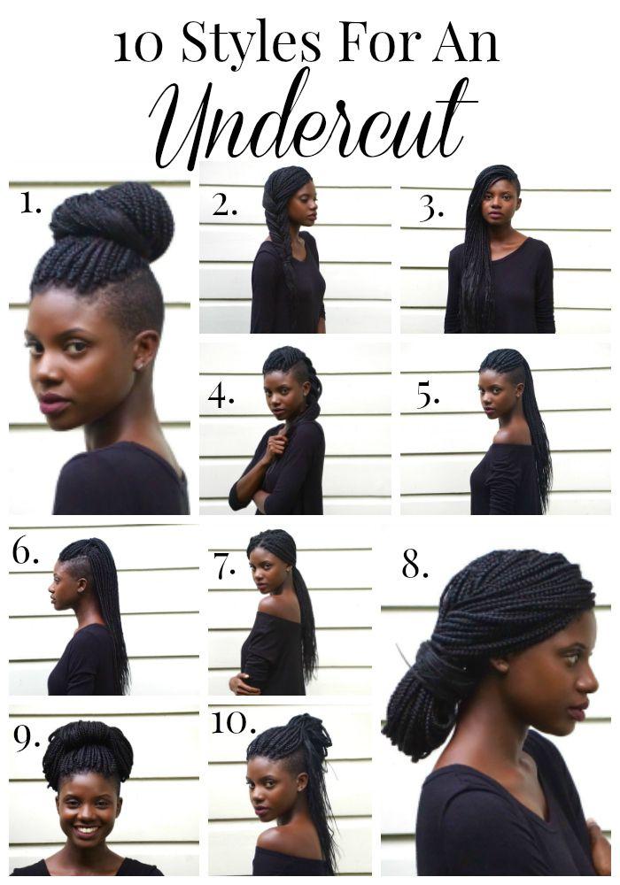 Undercut styles, box braid styles, natural hair from AuthenticallyB.com