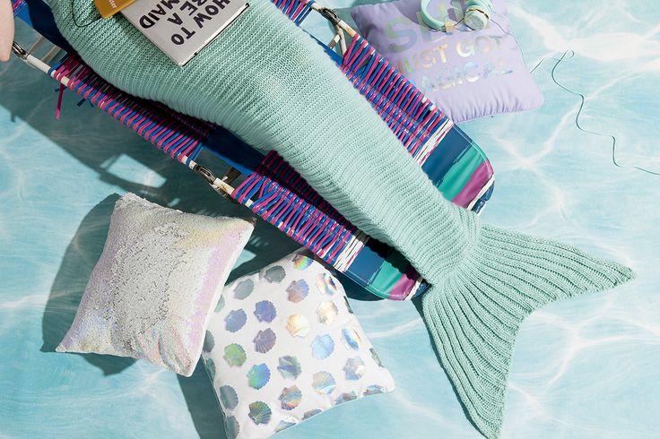 Mermaid pillows and throw - mermaid tail!
