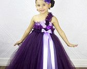 Items similar to Flower girl dress-Plum Flower girl dress-plum flower girl dress-flower girl dress- Plum and Purple Couture Flower Girl Dress on Etsy