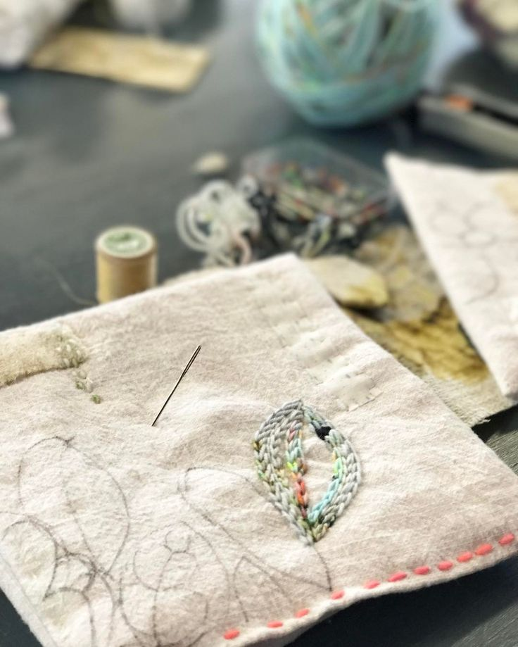 "352 Likes, 6 Comments - Embroidery Artist (@marnalunt) on Instagram: ""Starting on something new. A tactile texture or two. #stitchersofinstagram #embroideryart…"""