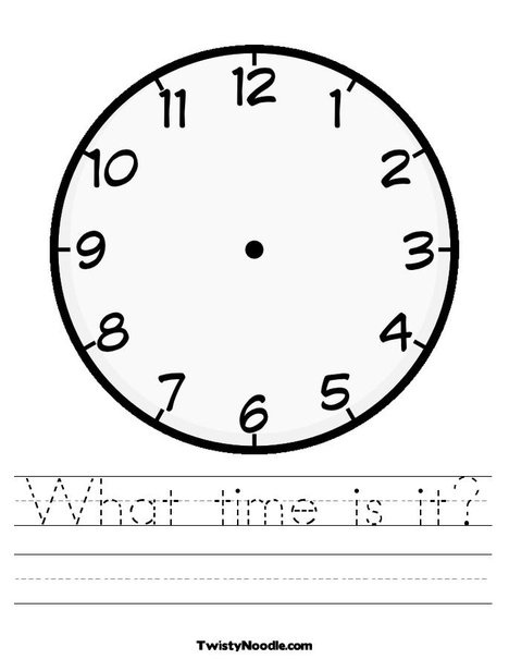 Blank Clock Coloring Page Create Your Own Words