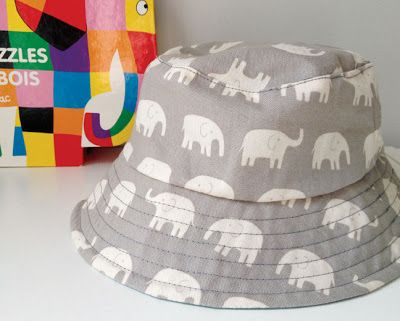 Link to free kids bucket sun hat pattern + notes