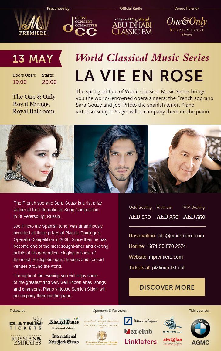 Email letter about La Vie en Rose concert in Dubai.Online preview: http://mpremiere.com/emails/9-rose-en/#tokki_team, #tokki_team_portfolio, #webdesign, #email