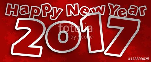 Happy New Year _ 2017 rosso su sfondo rosso #microstock #marketing #webdesign #design #WebContent #SEO #csstemplates #css #HTML5 #Websites #web20k #web2015 #web