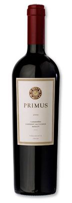 """2005 Veramonte """"Primus"""" Red Wine, Casablanca Valley, Chile    It's hard to believe that in the early 1990's less than 100 acres of vineyards were planted in Chile's Casablanca valley. In little more than two decades, this region of Chile has surged in growth and popularity, and is currently producing excellent wines that generally represent fantastic values on the world market. The region is currently home to more than 10,000 acres of vineyards."""