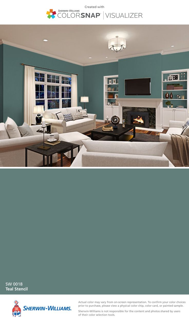 I Found This Color With ColorSnapR Visualizer For IPhone By Sherwin Williams Teal