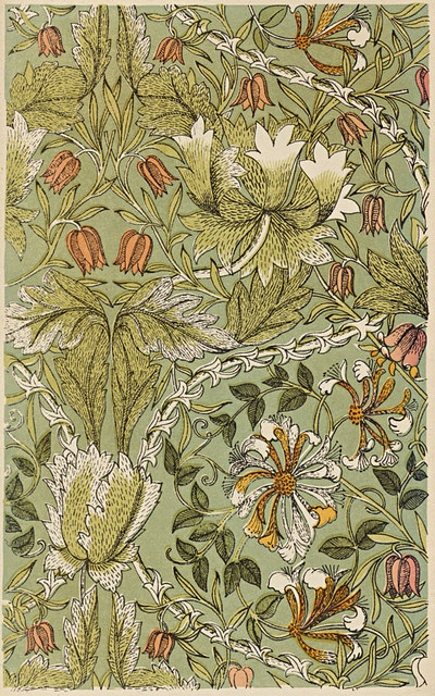 ARTS & CRAFTS: William Morris 1880 - but was this a deadly beauty, its green colouring flavoured with Devon Great Consols arsenic?