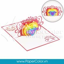 Give your love's one our 3D Pop up card when a normal printing card is not enough to express your heart. Let us say your feeling ^^ =>>>> Contact me: Email: yhuynh@papercolor.net Whatsapp: +84 94 222 9707  #popupcard, #3dcard, #wholesale3dcard, #cheappopupcard, #3dpopupgreeting card, #beautiful3Dcard, #lovely3Dpopupcard, #highquality3dcard, #lovepopupcard