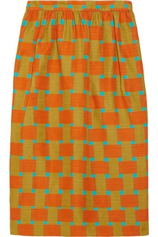 i love this print: Colors Combos, Cotton Blend Skirts, Saunder Roselyn, Colors Mixed, Prints Skirts, Prints Cotton Blend, Cottonblend Skirts, Roselyn Prints, Jonathan Saunder