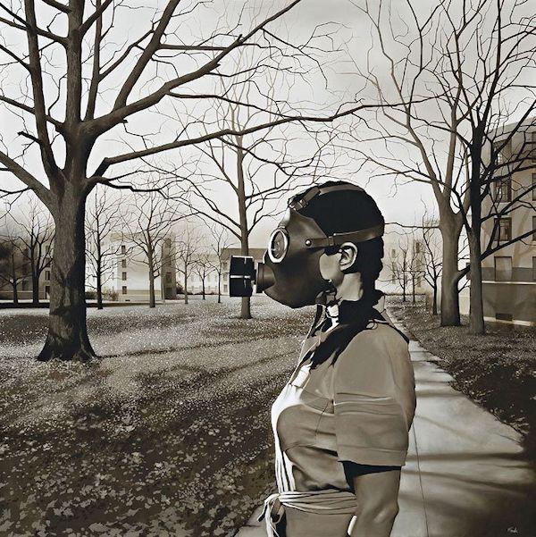 Michael Peck Gas mask, Gas mask girl, Dystopia