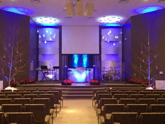 church lighting ideas. woven with snow church stage design ideas lighting