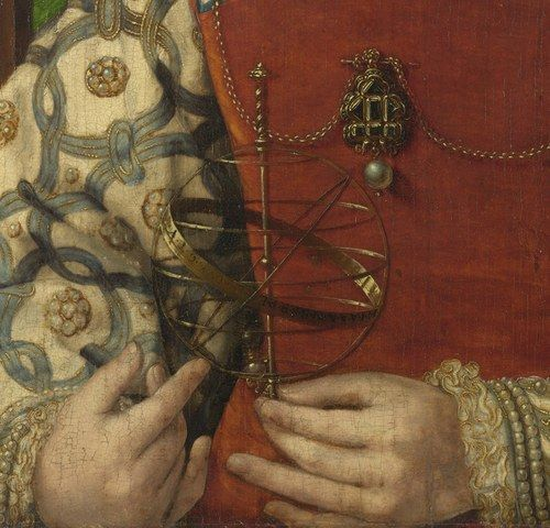 Jan Gossaert- Portrait de Jeune Fille portant une Sphère Armillaire Ca 1520