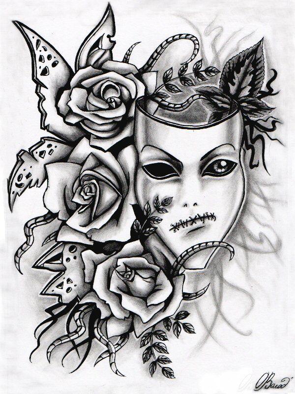 29 besten mask tattoo designs bilder auf pinterest flash tattoo asien und ausdrucken. Black Bedroom Furniture Sets. Home Design Ideas