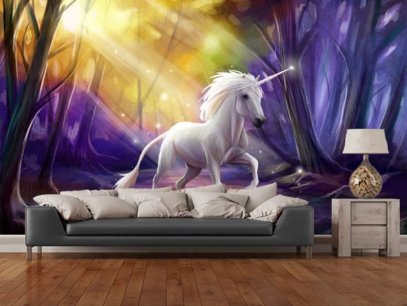 Wallpaper For Girls Room Uk 15 Best Unicorn Wall Murals Images On Pinterest Murals