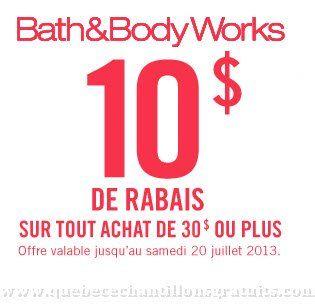 Coupon rabais Bath