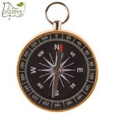 Gold Working Compass Pendant