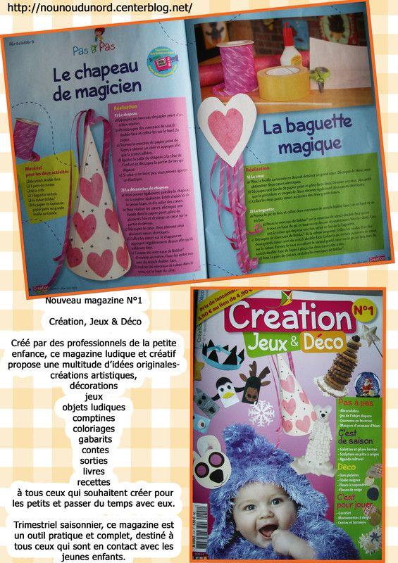 chapeau de magicien et la baguette magique que j'ai réalisés pour le magazine Création, Jeux & Déco  le nouveau magazine