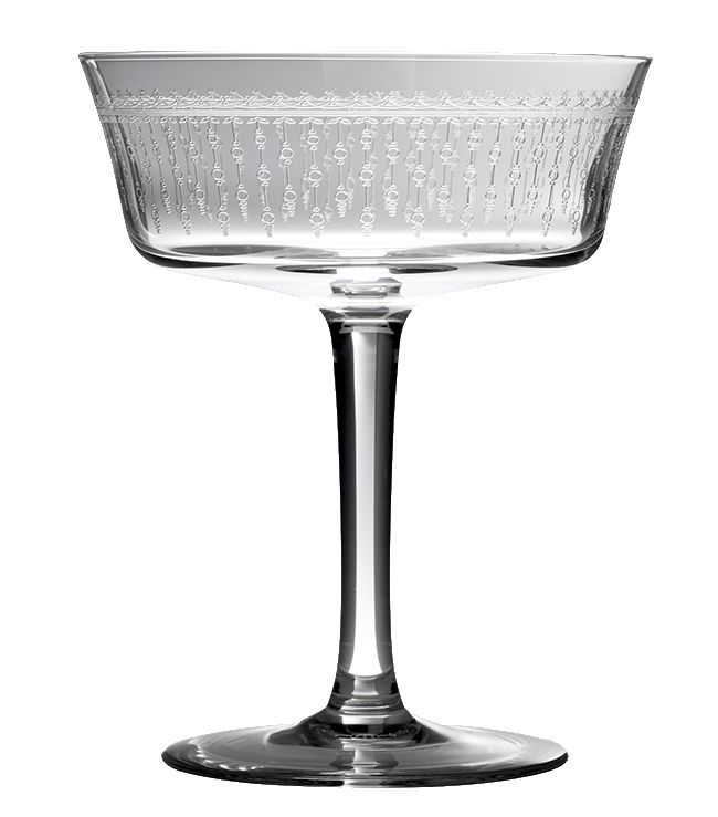 Retro Shallow Fizz Glass 1920