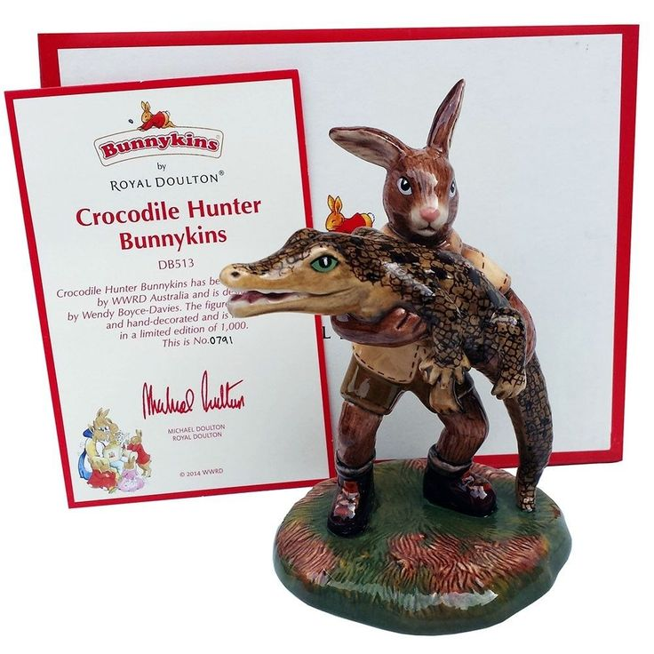 RARE Steve Irwin Royal Doulton Bunnykins Crocodile Hunter Limited Edition #791