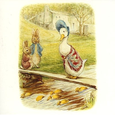 Jemima puddle duck, illustrations from Beatrix Potter books