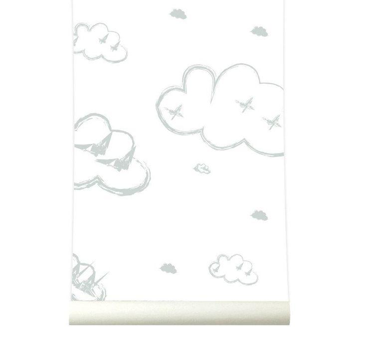 Behang Rough clouds grey Roomblush Behang wolken grijs van Roomblush. Ontdek hier de SWEET! wallpaper collectie van Roomblush. Een speelse collectie, een eyecatcher op je muur. Voor in de kinder, speel, slaap, werk-kamer of gewoon waar jij dat wil! Dit vliesbehang bestaat uit 4 banen van 50 cm breed x 285 cm hoog. Stalen aanvragen kan, max. 4 stuks, via info@roozje.nl  Levertijd: 5-12 werkdagen Behang kinderkamer babykamer wolkjes wolken