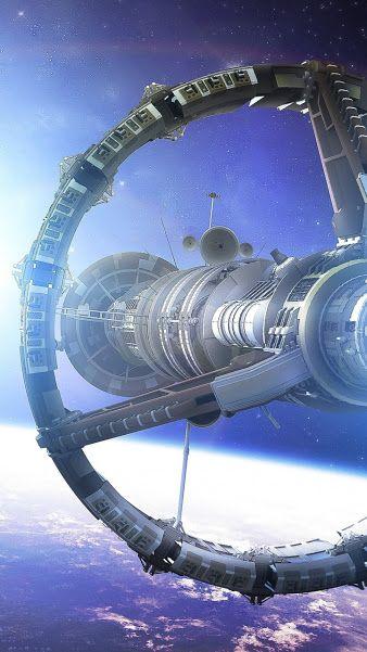 Spaceship in orbit (or spacestation)