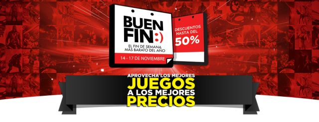 Ofertas Buen Fin: Descuentos hasta del 50% en GamePlanet. Buen Fin, del 14 al 17 noviembre de 2014. #Promo #BuenFin