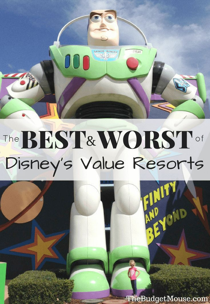 The best Disney Value Resorts (and the worst). Not all Value resorts are created equal, so here are my picks for the best and worst options. #familyvacation #disneyworld