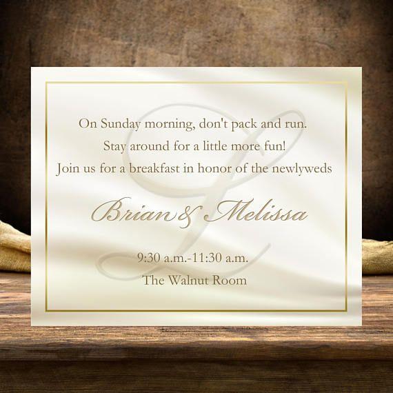$20 for 20 Elegant Ivory with gold Monogram Wedding Welcome Notes. 100s of wedding welcome bag products & designs by #BestWelcomeBags .com #WeddingPlanner #bestdayever #bride #grook #theknot #WeddingDresses #destinationwedding #whiteDress
