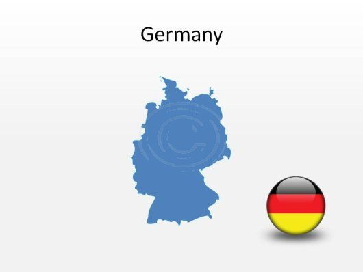Germany PowerPoint Map Shape. 100% editable in PowerPoint!