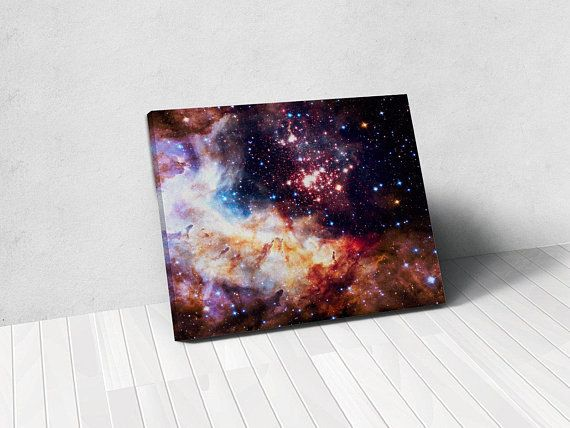 Hubble Star Cluster Galaxy Artwork - Astronomy Gifts Her, Astronomy Gifts Him - Solar System Print, Space Photo Wall Art - Astronauts