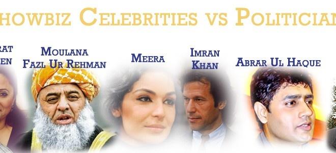 Celebrities in Pakistan Politics versus Politicians of Pakistan