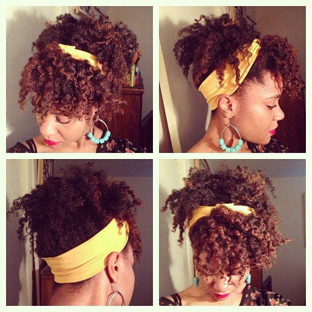 Natural Hair Twist Out Pinned Into Updo And Embellished