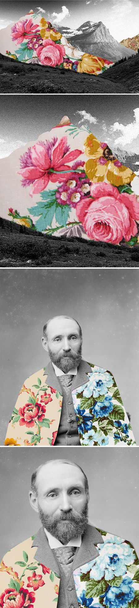 Guy Catling... How a little floral pattern can soften an image
