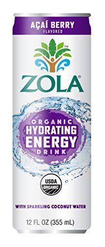Zola Organic Hydrating Energy Drink, Acai Berry, 12 Ounce (Pack of 12) #Zola #Organic #Hydrating #Energy #Drink, #Acai #Berry, #Ounce #(Pack