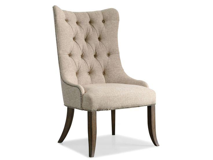 Коллекция Rhapsody объединяет в себе классические элементы в дизайне, простую отделку, а вместе с ней и роскошь. •Кресло декорировано небольшими гвоздиками. •Изготовлено из твердой породы дерева. •Выполнено в грубой отделке орехового цвета.             Метки: Кухонные стулья.              Материал: Ткань, Дерево.              Бренд: Hooker Furniture.              Стили: Арт-деко, Классика и неоклассика.              Цвета: Белый.