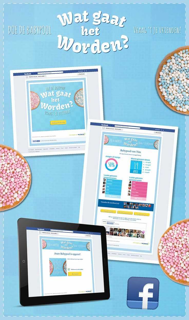 Nutricia heeft vandenbusken gevraagd om met een online oplossing te komen waarbij zwangere vrouwen vroegtijdig aan de Facebook pagina 'Nutricia voor jou' worden gebonden. Hiervoor is een applicatie ontwikkeld waarmee stellen die een kind verwachten dit op leuke manier kunnen delen met hun vrienden
