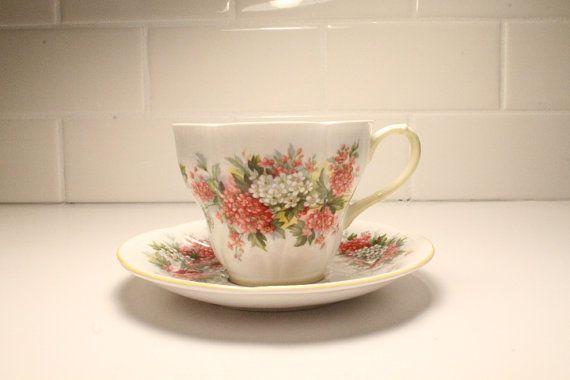 Tea Cup and Saucer China Tea Cup and Saucer by ClockworkRummage, $16.50