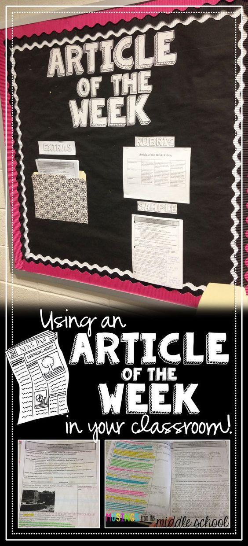 My new favorite homework: Articles of the Week!: